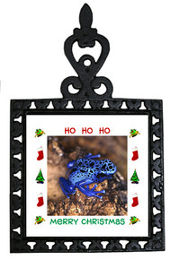 Blue Frog Christmas Trivet