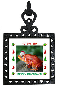Tomato Frog Christmas Trivet
