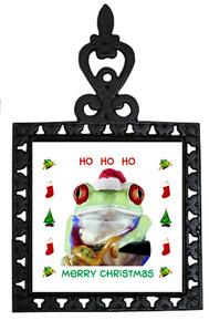 Tree Frog Christmas Trivet