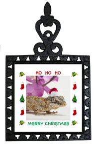 Gecko Christmas Trivet