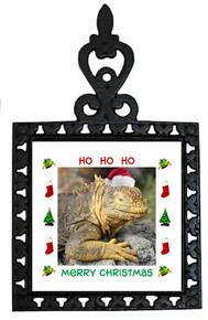 Iguana Christmas Trivet