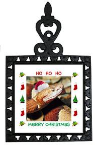 Copperhead Snake Christmas Trivet