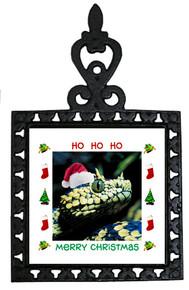 Viper Snake Christmas Trivet