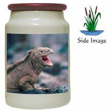 Iguana Canister Jar