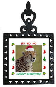 Cheetah Christmas Trivet