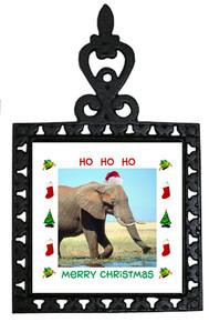 Elephant Christmas Trivet