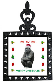 Gorilla Christmas Trivet