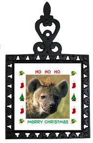 Hyena Christmas Trivet