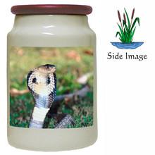 Cobra Snake Canister Jar