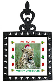 Leopard Christmas Trivet