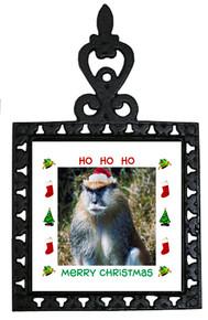 Monkey Christmas Trivet