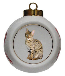 Savannah Porcelain Ball Christmas Ornament