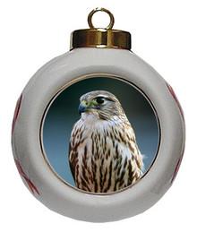 Falcon Porcelain Ball Christmas Ornament