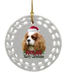 Cavalier King Charles Porcelain Christmas Ornament