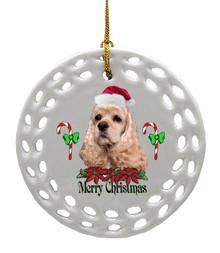 Cocker Spaniel Porcelain Christmas Ornament