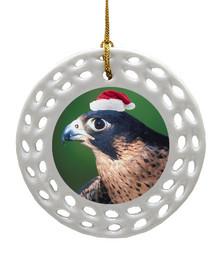 Falcon Porcelain Christmas Ornament