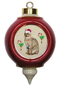 Savannah Victorian Red & Gold Christmas Ornament