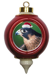 Falcon Victorian Red & Gold Christmas Ornament