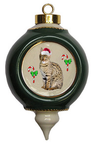 Savannah Victorian Green & Gold Christmas Ornament