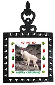 Mountain Goat Christmas Trivet
