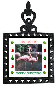 Flamingo Christmas Trivet
