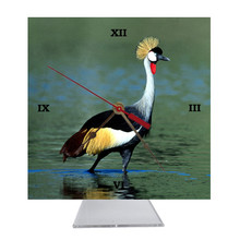 Crowned Crane Desk Clock
