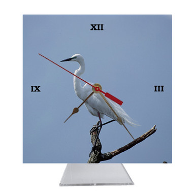 Egret Desk Clock