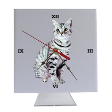 American Shorthair Cat Desk Clock