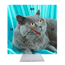 British Shorthair Cat Desk Clock