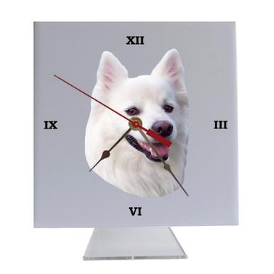 American Eskimo Dog Desk Clock
