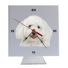 Bichon Desk Clock