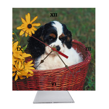 Cavalier King Charles Desk Clock