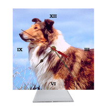 Collie Desk Clock