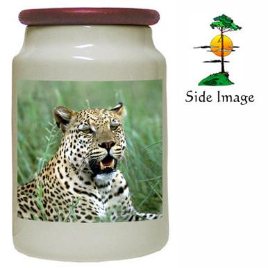 Leopard Canister Jar
