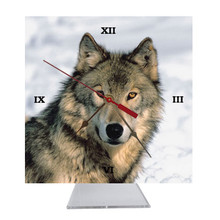 Wolf Desk Clock