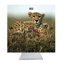 Cheetah Desk Clock
