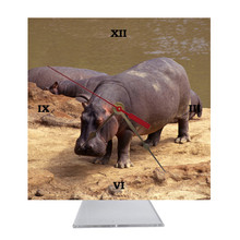 Hippo Desk Clock