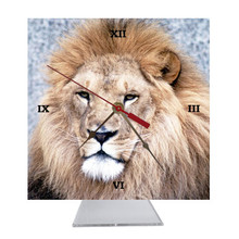 Lion Desk Clock