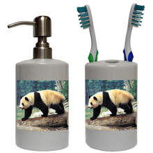 Panda Bear Bathroom Set