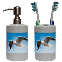 Black Headed Gull Bathroom Set