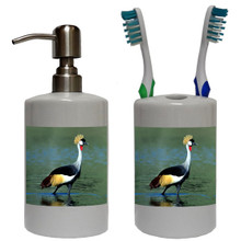 Crowned Crane Bathroom Set