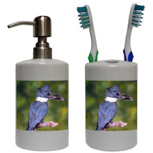 Belted Kingfisher Bathroom Set