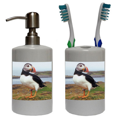 Atlantic Puffin Bathroom Set