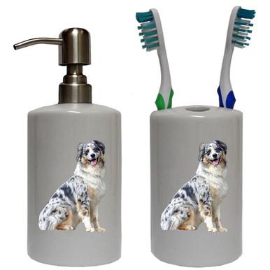 Australian Shepherd Bathroom Set