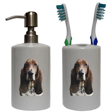 Basset Hound Bathroom Set