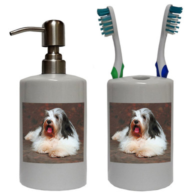 Bearded Collie Bathroom Set
