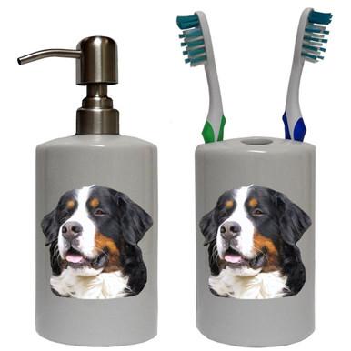 Bernese Mountain Dog Bathroom Set