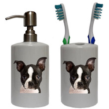 Boston Terrier Bathroom Set