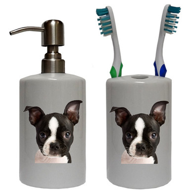 Boston Terrier Bathroom Set