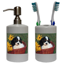 Cavalier King Charles Bathroom Set